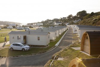 View of caravans toward the beach