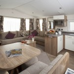 Dining area and fitted kitchen Rio caravan