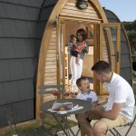 Glamping pods at Porth Beach