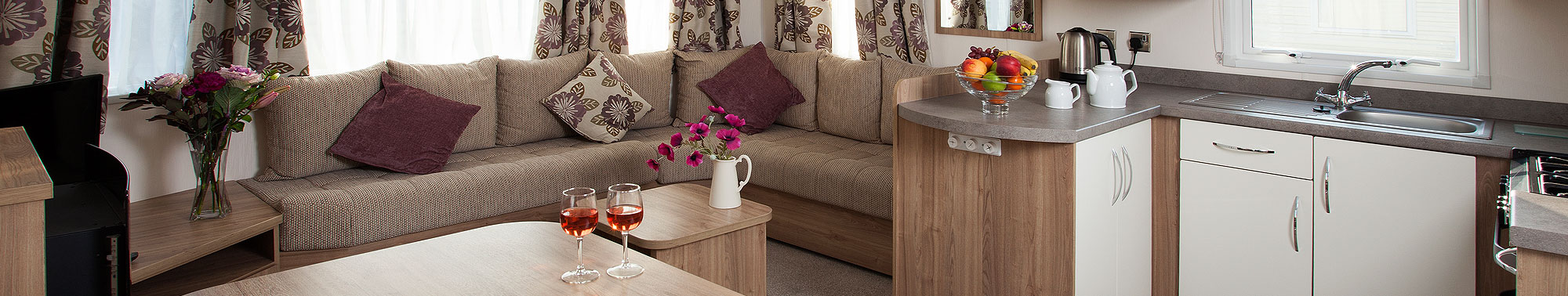 Interior of our Avonmore caravans